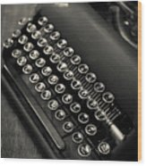 Vintage Portable Typewriter Wood Print