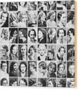 Vintage Portrait Photos Depict Womens Hairstyles Of The 1930s  - Doc Braham - All Rights Reserved. Wood Print