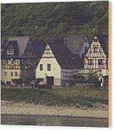 Vintage Postcard Look Of Spay Germany Wood Print
