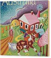 Vintage Poster - Australia Wood Print