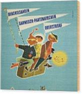 Vintage Poster - Bavarian Alps Wood Print