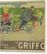 Vintage Poster Bicycle Advertisement Wood Print