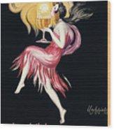 Vintage Poster Cognac Monnet, 1927 Wood Print