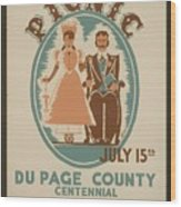 Vintage Poster Old Settlers Picnic Wood Print