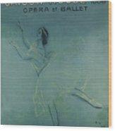 Vintage Poster - Saison Russe Wood Print