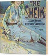 Vintage Poster - The Sheik Wood Print
