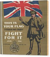 Vintage Poster - This Is Your Flag Wood Print
