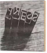 Vintage Press Industry Blocks Wood Print
