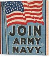 Vintage Recruitment Poster Wood Print