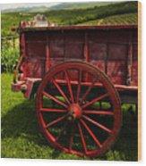 Vintage Red Wagon 2 Wood Print