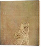 Vintage Reflecting Woman 1 - Artistic Wood Print