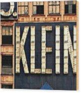 Vintage Retail Sign Wood Print