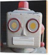 Vintage Robot 1 Dt Wood Print