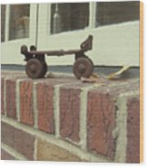 Vintage Roller Skate Wood Print