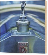 Collectible Logo And Emblem On A Vintage Rolls Royce Wood Print