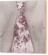 Vintage Romance Dress Wood Print by Lauren Maurer