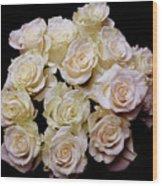Vintage Roses Bouquet Wood Print