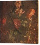 Vintage Roses Wood Print