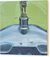 Collectible Vintage Rover Hood Ornament Wood Print