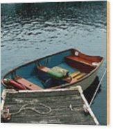Vintage Rowboat Wood Print