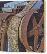 Vintage Rusty Machine Wood Print