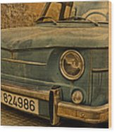 Vintage Rusty Renault Truck Wood Print