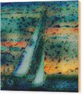 Vintage Sailboat Wood Print