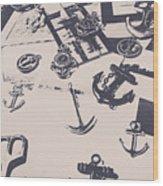 Vintage Sailing Art Wood Print