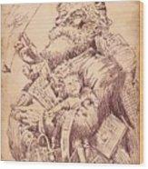 Vintage Santa Wood Print