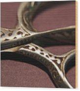 Vintage Scissors  Wood Print