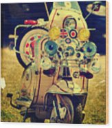 Vintage Scooter Wood Print