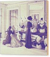 Vintage Seamstress Wood Print