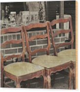 Vintage Seating Wood Print