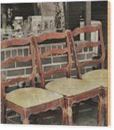 Vintage Seating Wood Print