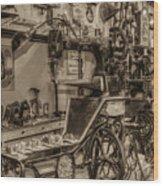 Vintage Sewing Wood Print