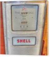Vintage Shell Gas Pump Wood Print