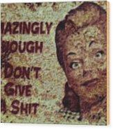 Vintage Sign 2e Wood Print