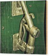 Vintage Sinclair Dino Gas Pump Wood Print