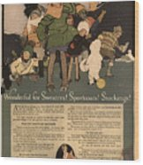 Sweaters Sportcoats And Stockings Vintage Soap Ad 1917 Winter Wood Print