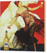Vintage Spanish Liquor Ad, Flamenco Dancer, Polar Bear Wood Print