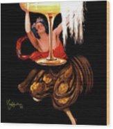Vintage Sparkling Wine Advertisement Wood Print