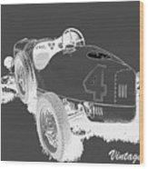 Vintage Speedster Wood Print