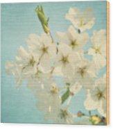 Vintage Spring Blossoms Wood Print