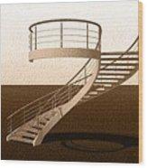 Vintage Stair 48 Escalera Caracol Helicoidal Wood Print
