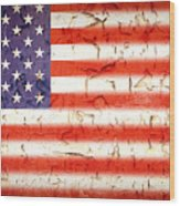 Vintage Stars And Stripes Wood Print
