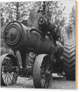 Vintage Steam Tractor Wood Print