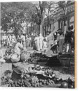 Vintage Street Scene In Ponce - Puerto Rico - C 1899 Wood Print