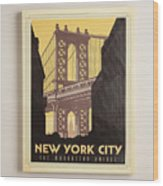 Vintage-style New York City Poster Wood Print