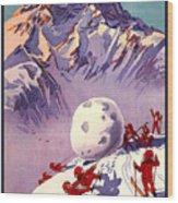 Vintage Swiss Travel Poster Wood Print
