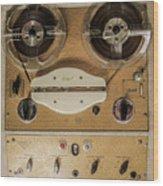 Vintage Tape Sound Recorder Reel To Reel Wood Print